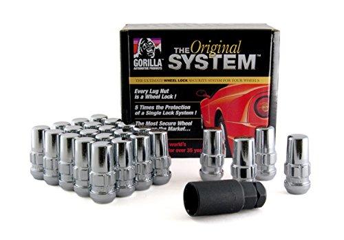 """Gorilla Automotive 76604N """"The System"""" Duplex Acorn Wheel Locks (14mm x 2.00 Thread Size) - For 6 Lug Wheels"""