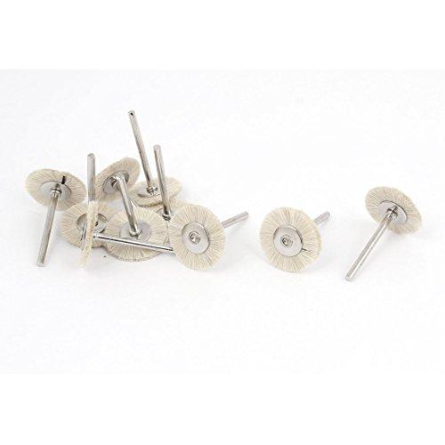 Aexit , Grob- & Feinpoliturzubehör 25 mm Durchmesser, 3 mm Schaft, Borsten-Pinsel, Buffing Polieren, Polierscheiben 15 Stück-Beige