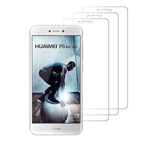 Peloo Protector de Pantalla para Huawei P8 Lite 2017 [3 Unidades] Cristal...