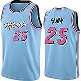 YCQQ Jersey Baloncesto Masculino, NBA Miami Heat # 25 Kendrick Nunn, Classic Baloncesto Sportswear Flojo Comfort Chalecos Tops, Camisetas sin Mangas Uniformes(Size:S165-170,Color:G1)
