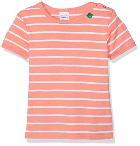 Fred'S World By Green Cotton Stripe T Baby Blouse, Orange (Coral 016163201), 98 Bébé Fille