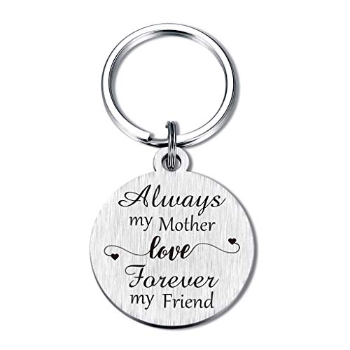 Mom Gifts From Daughter, Always My Mother Love Forever My Friend Keychain, Birthday Mother's day Gifts for Mom