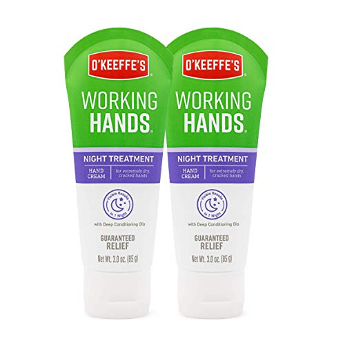 O'Keeffe's 102965 Night Treatment Hand Cream, 2-Pack, White, 2 Count