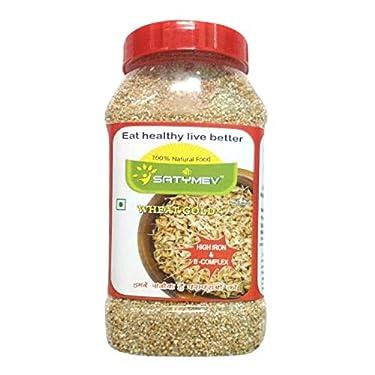 SriSatymev ® Sprouted Wheat Daliya Roasted Wheat Gold - 1 Kg