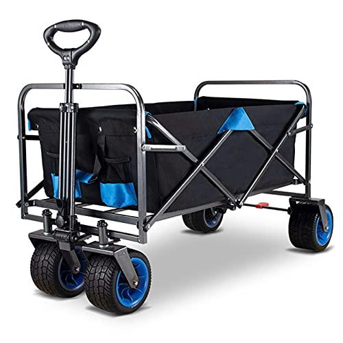 Garden Trolley Opvouwbare Opbergwagen, Outdoor Draagbare Roltrolley Voor Tuin/Strand/Camping, Kan Een Metalen Frame Van…