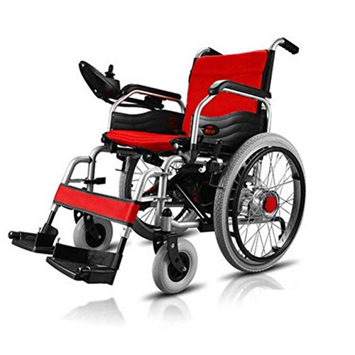 FTFTO Home Accessories Elderly Disabled Lightweight Wheelchairs for Adults Electric Folding Carry Power Chair More Secure Stable Portable Safe Motorized Scooter Support 220Lb
