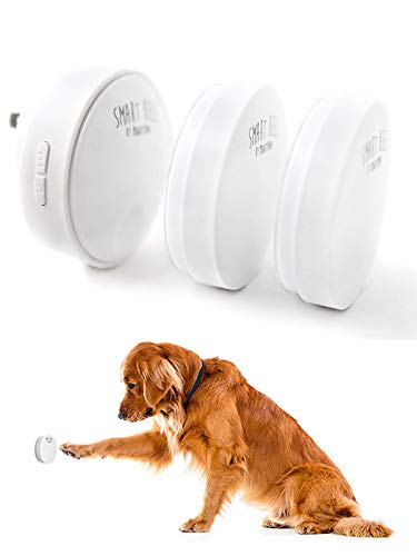 Mighty Paw Smart Bell 2.0, Dog Potty Communication Doorbell, Super-Light Press Button Doorbell (2 Activators, White)