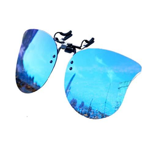 Gafas de Sol Clip on Gafas de sol polarizadas con flip up Gafas Clip polarizadas UV400 para hombre y mujer, ajuste cómodo y seguro sobre gafas de sol para conducción y al aire libre