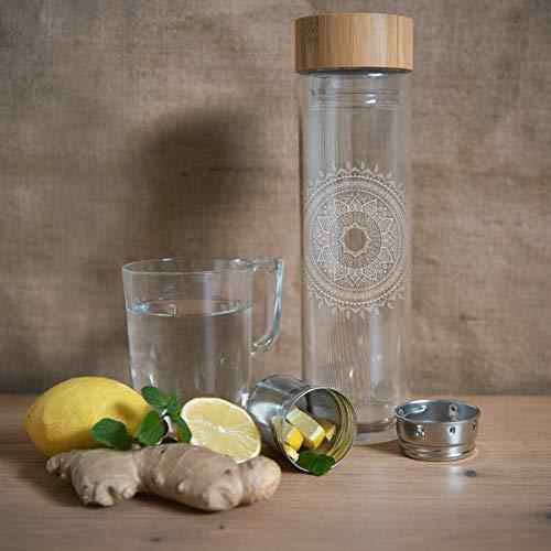 Teeflasche ToGo aus Glas - 5