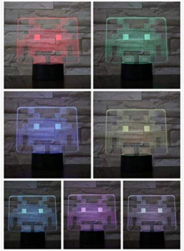 3D nachtlampje spel pak man nachtlicht LED 3D slaapkamer decoratieve lamp illusie kind baby kit kit knipperend inky clyde geestelijk pac man lamp tafel