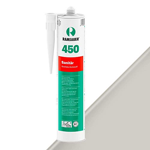 Ramsauer 450 Sanitär 1K Silikon Dichtstoff 310ml Kartusche (Duschgrau)