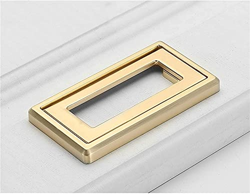 Gabinete Pulls Manijas de barras 6 piezas Golden invisibles Manijas Horizontales Cocina Hardware Hardware Cajón Tirar con tornillos Modernos Minimalistas Gabinetes con hebilla oculta ( Size : 83mm )