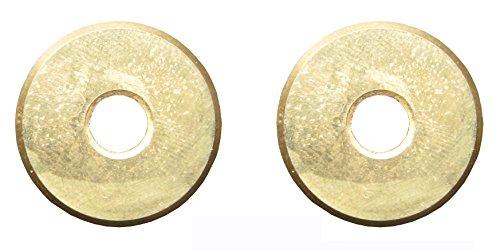 2 Stück Wolframkarbid-Fliesenschneider Ersatzscheibe 7/8 Zoll, Premium-Qualitätsstandard (5000 m Keramikfliesen Schneidleistung), Titanbeschichtet, Fliesenschneidrad 22 mm 2er-Pack