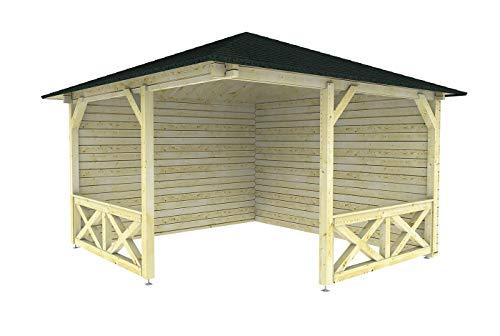 steda Gartenhaus 40 mm Wandstärke Hameln 370 x 370 cm in 40 mm Wandstärke