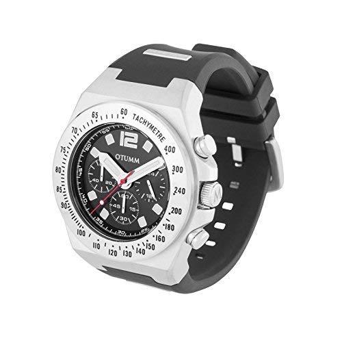 Otumm Athletics Chrono acciaio nero 45mm nero da polso unisex atletica orologio