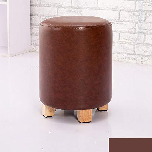 Massief houten voetensteun, stoel, sofameubels, ottomans, woondecoratie, bank met kruk, dressing, lederen stoelen F1225 Bruin
