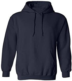 Navy Hoodie, Plain Navy Hooded Top, Navy Hooded Sweatshirts XS - XXL