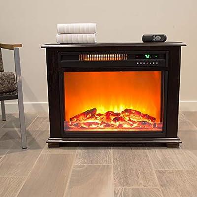 Lifesmart Remote Faux Stone Electric Fireplace