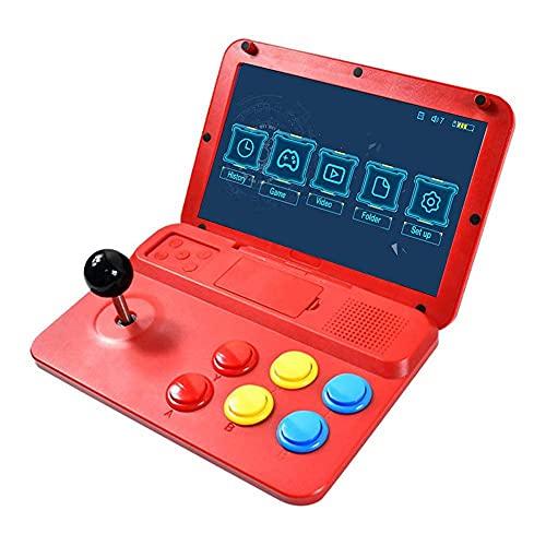 BAOZUPO 10-Zoll-Quad-Core-Retro-Arcade-Spielekonsole, 3000 Spiele kompatibel mit PS, GB, FC, FBA, CPS, SFC, GG, NEOGEO, MD, GBC, GBA-Simulatoren, HDMI-TV-Ausgang Videospielkonsole