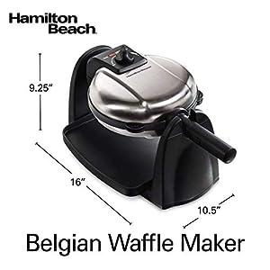 Hamilton Beach Flip Belgian Waffle Maker with Removable Plates (26030)