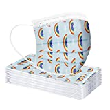 <span class='highlight'><span class='highlight'>SUNFANY</span></span> Kids Children's Disposable Face Industrial 3Ply Ear Loop Rainbow Multicolor Printed 30PCs