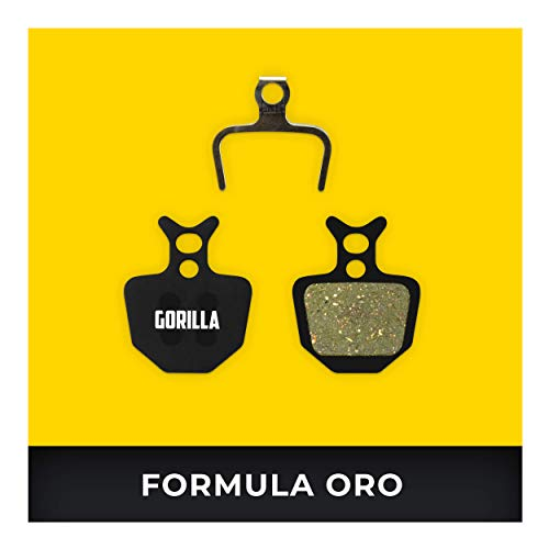 Formula Pastillas de Freno Oro para Freno de Disco Bicicleta I Sinterizado I Alto Rendimiento I Durable & Ajuste Pastillas de Freno Bicicleta
