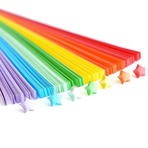 Erlliyeu Origami Sterne Papierstreifen Package, Origami Papier Sterne, 27 Farben, 1350 Streifen (Rainbow Colors)