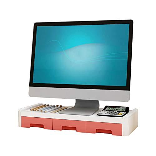 Houten monitorstandaard, met opslag organisator ruimte voor toetsenbord of muis Multi kleuren voor PC/laptop/computer/MacBook D1