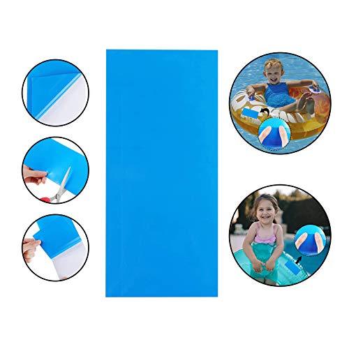 Self-Adhesive PVC Repair Patches, Vinyl Pool Liner Patch Boat Repair Vinyl Rubbers for Inflatable...