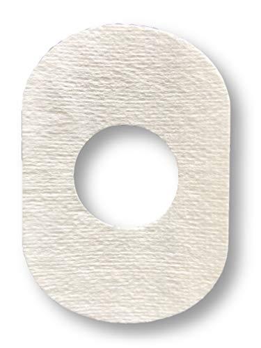 FixTape atmungsaktives Sensor-Tape für Freestyle Libre 1 & 2 I selbstklebendes Patch mit Loch für Glukose-Sensor I besonders hautfreundlich und wasserfest in modernen Designs I 7 Stück (Weiss)