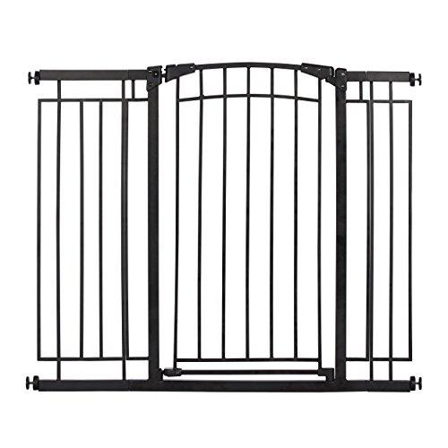 Evenflo Multi-Use Decor Tall Walk-Thru Gate, Black Metal