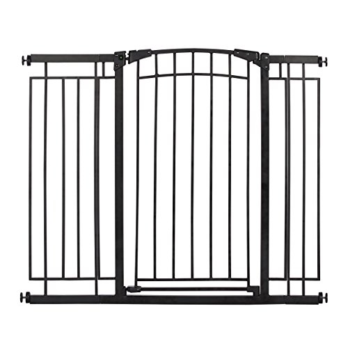 Evenflo Multi-Use Decor Tall Walk-Thru Gate, Black Metal