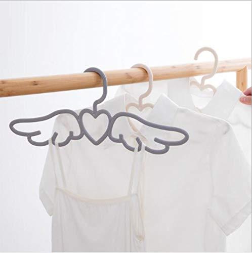 zhaoyangeng 10 Stks Fly Angel Plastic Kleding Shirts Hanger Leuke Wit Grijs Liefdevolle Hart Sjaal Ondergoed Jurk Hanger Rack@Beige