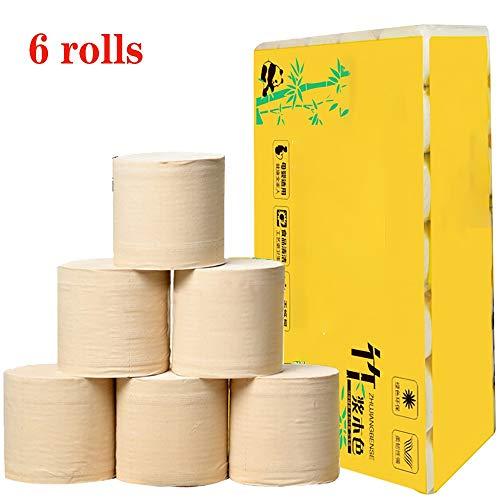 Preisvergleich Produktbild YLXD 6 Rolle Toilettenpapier,  4-lagig Klopapier Toilet Paper Weiches Hautfreundliches Toilettenpapier,  Toilettenpapier,  Zum Badezimmer Küche - - Seidig Glatt