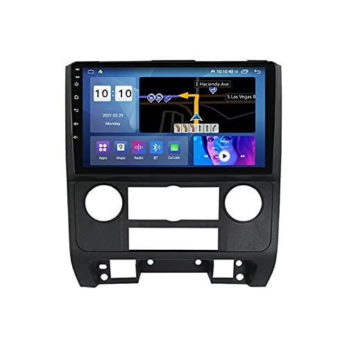 ADMLZQQ Autoradio Android 10 GPS Compatible para Ford Escape 2007-2012 con Pantalla Táctil HD Navegación GPS Soporte FM/WiFi/Control del Volante/Bluetooth/cámara de visión Trasera,M300s