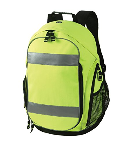Safety Depot High Visibility Backpack with Shoe Compartment, Headphone Jack Opening, Wet & Dry Storage