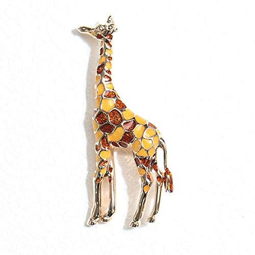 BJINUIY Confezione Regalo Spille per gioielleria da Donna, Giraffa Colorata per Decorazioni Natalizie