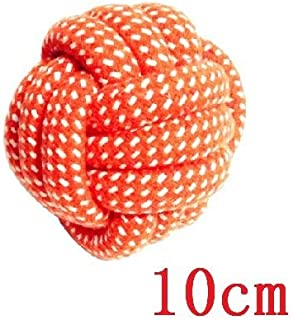 DORLIONA 1pc Colorful Cotton Braided Dog Toy Ball Bite Resistant Dog Chew Toys Diameter 6/7/8/10cm Dog Teeth Cleaning Toys...