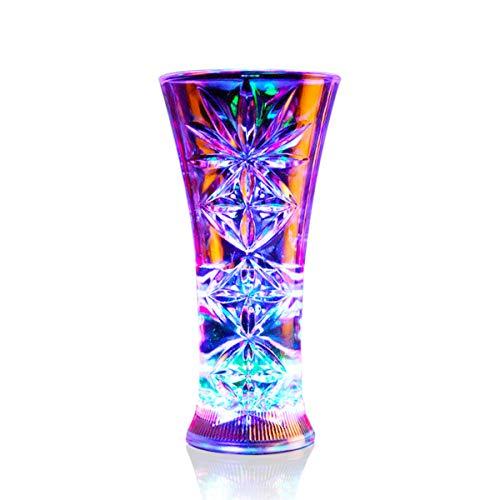ASEOK Kreative Induktion LED Licht Weinbecher, LED beleuchtet Getränke Becher, Plastik, leuchtende Bierbecher, leuchtendes Trinken, Weihnachtsgeschenk