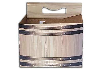 6 Pack Cardboard 12 oz Beer/Soda Carrier by C-Store Packaging (Pack of 50)