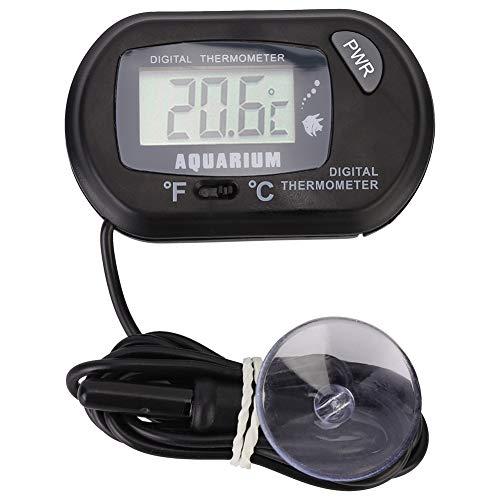 Pssopp Termometro per acquari, Termometro Digitale LCD per Acquari Termometro Digitale per acquari Rettile Indicatore di Temperatura del terrario per terrario di rettili di Veicoli
