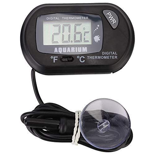 Pssopp Aquarium Thermometer Digital LCD Aquarium Wasserthermometer Reptile Terrarium Temperaturanzeige für Fahrzeug Reptile Terrarium, -50 ℃ ∽ 70 ℃