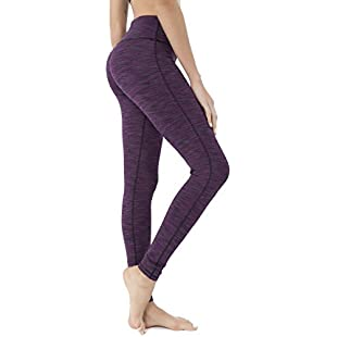 Queenie Ke Women Power Stretch Plus Size High Waist Yoga Pants Running Tights Size XXL Color Space Dye Purple:Isfreetorrent