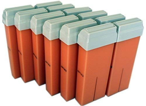 Epilwax Set da 12 argan Rulli Cera per Depilazione - Larghezza 100 ml Roll-on Ricarica Cera