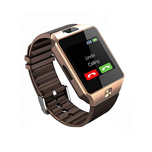 Domybest Smartwatch DZ09M Bluetooth 1,54 inch TFT LCD touchscreen Smartwatch 1,3 MP camera GSM houder TF-kaart voor iOS Android Phone, Goud