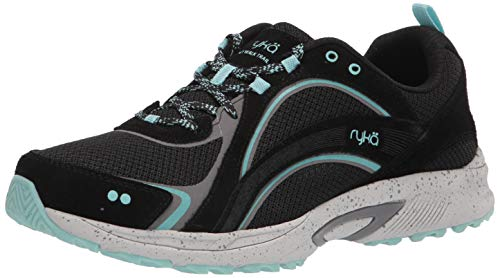 Ryka Women's Sky Walk Trail Oxford, Black/Teal, 9 Wide