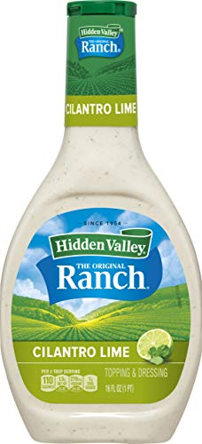 Hidden Valley Cilantro Lime Ranch Salad Dressing & Topping, Gluten Free - 16 Ounce Bottle (Package May Vary)