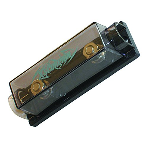 XScorpion ANL1010P Platinum ANL Inline Fuse Holder with 0/2/4 Gauge Input & Output, Silver