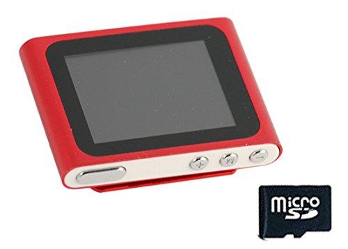 Xtreme 27702R Lettore MP 4/MP 3 con Schermo da 1.8', Completo di MicroSD da 8 GB, Cavo Dati e Auricolare