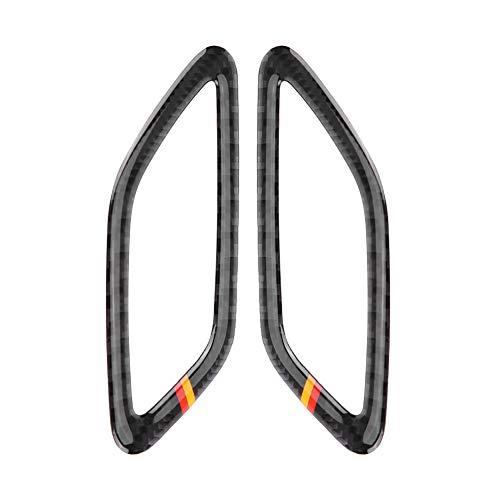Dashboard Outlet Cover - 2 st kolfiber instrumentbräda uttagsskydd (Tyskland stil)